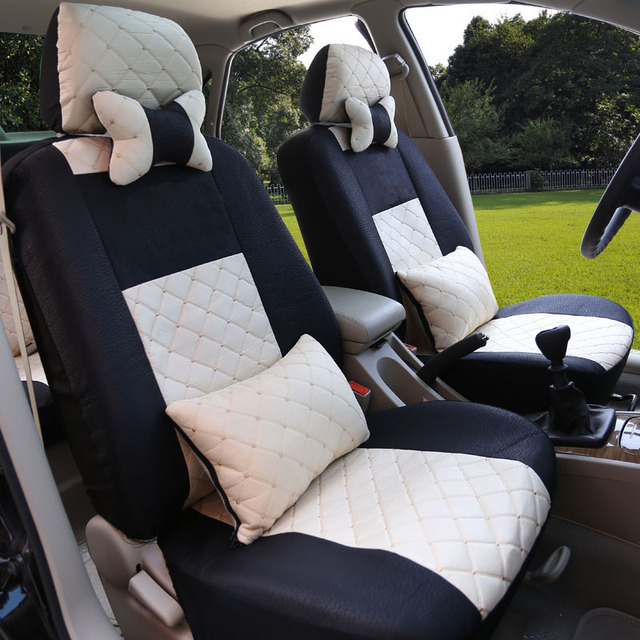 HLFNTF Universal car Seat Covers Full Car Seat Cover front and rear 5 seat Interior Accessories Protector Car-Styling