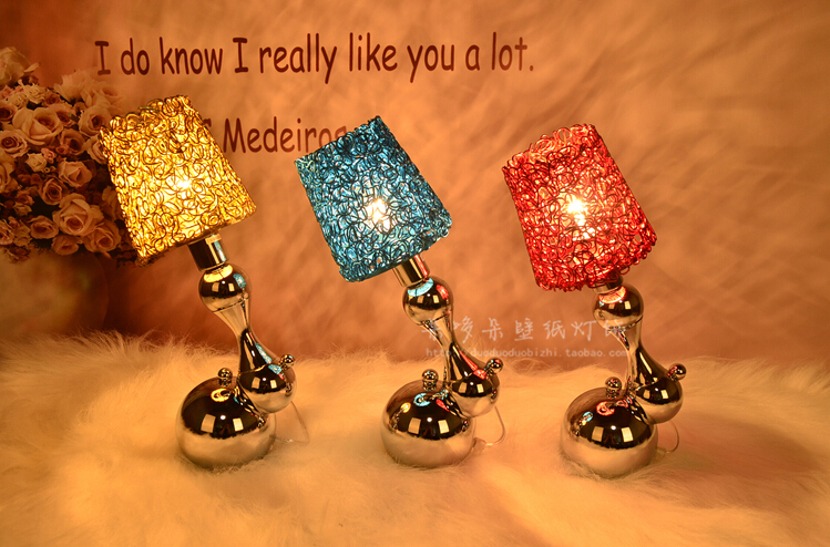 New creative dna personality bedside table lamp modern bedroom kids new creative dna personality bedside table lamp modern bedroom kids aluminum wire stainless steel molecular structure in desk lamps from lights lighting greentooth Image collections