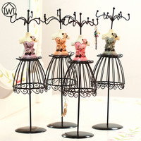 Rose Shirt Metal Jewelry Display Stand Necklace Showing Rack Earringe Hanging Holder Bracelet Shelf ZAKKA Home