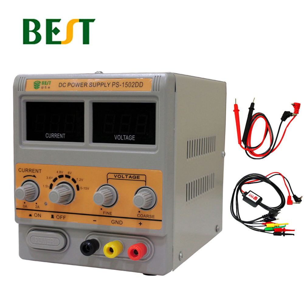BEST 1502DD Mobile Phone Repair Dedicated Power Supply Adjustable Power Supply 15V2A High Precision DC Stabilized