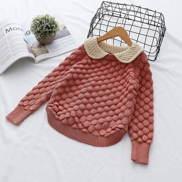 f5d2bdac1 Spring Autumn Toddler Baby Girl Cable Knit Sweater Lovely Kid ...