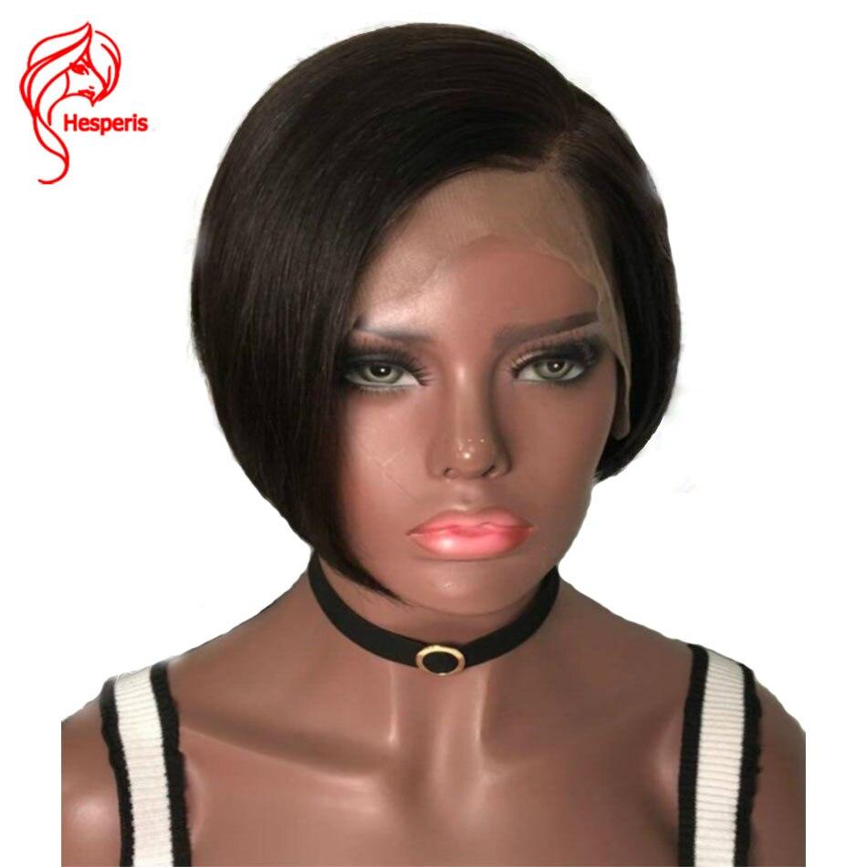 Hesperis Lace Front Human Hair Wigs 13x6 Short Bob Lace Front Wigs Brazilian Remy Short Bob