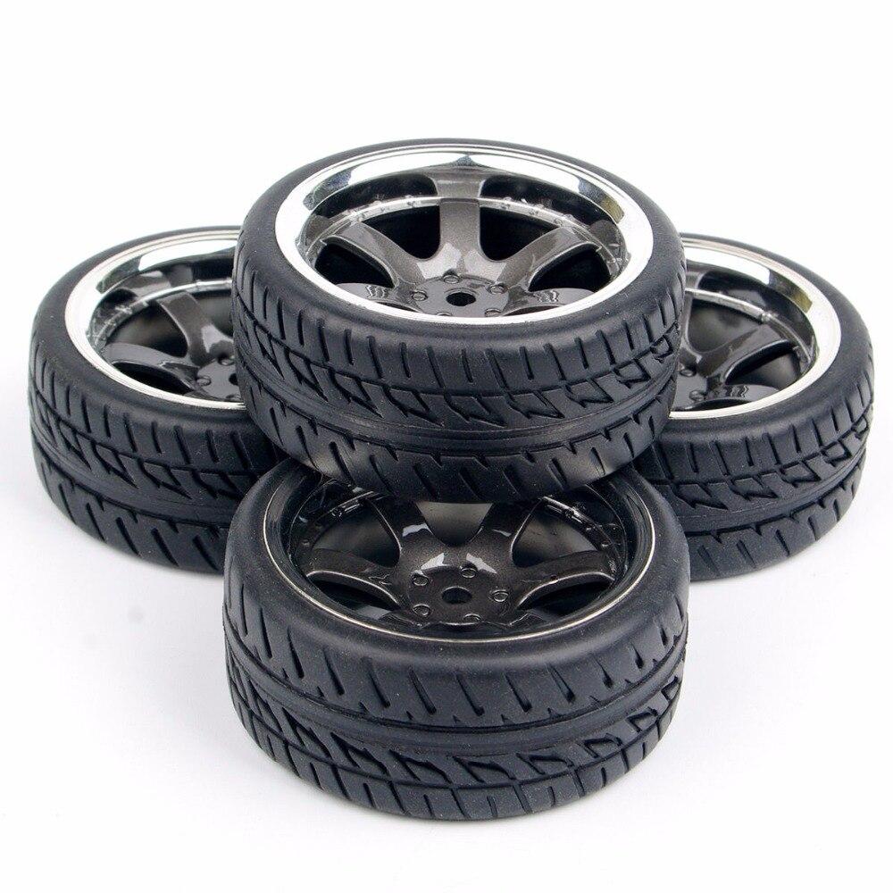 4 pcs set pneus de borracha rodas 04