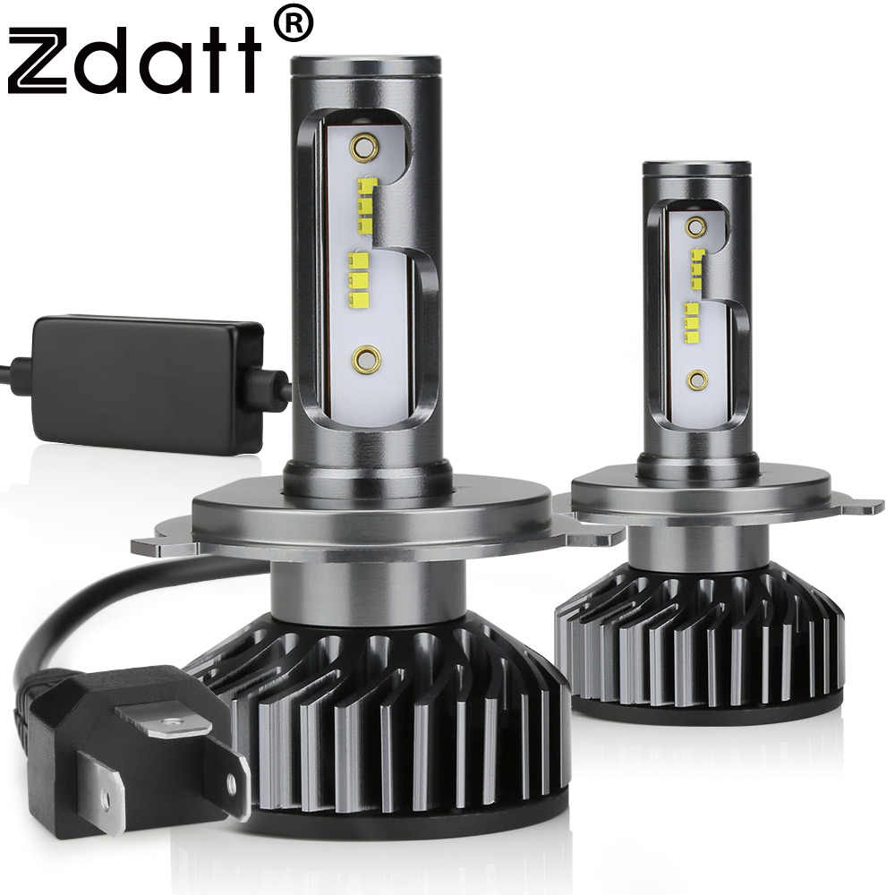 Zdatt H7 LED H4 H11 H8 H1 HB3 9005 9006 H9 HB3 Canbus Headlight Bulb Car Light 12000LM 100W 6000K 12V Auto Lamp No Radio Noise