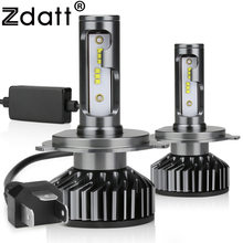 Zdatt H7 LED H4 H1 LED H11 H8 9005 9006 H9 HB3 Canbus Headlight Bulb Car Light 12000LM 100W 6000K 12V Auto Lamp No Radio Noise(China)