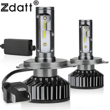 Zdatt H7 LED H4 H11 H8 H1 HB3 9005 9006 H9 HB3 Canbus Headlight Bulb Car Light 12000LM 100W 6000K 12V Auto Lamp No Radio Noise цены онлайн