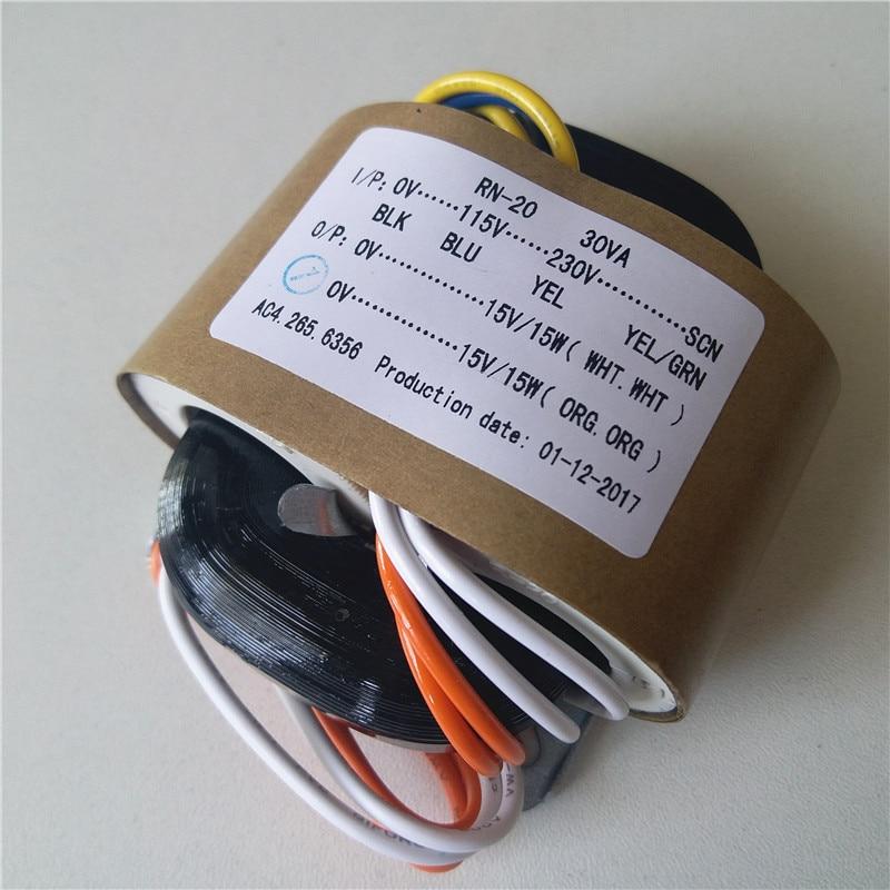 15V 1A 15V 1A R Core transformer 115-230V input 30VA for amplifier Power supply15V 1A 15V 1A R Core transformer 115-230V input 30VA for amplifier Power supply