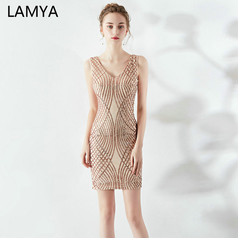LAMYA V Neck Off The Shoulder   Prom     Dresses   2019 Short Simple Evening Party   Dress   Women Elastic Special Occasion   Dresses
