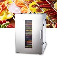 16 Tray 220V Fruit Dehydrator Machine Fruit Vegetable Meat Herbal Tea Fish Dryer Food Dryer