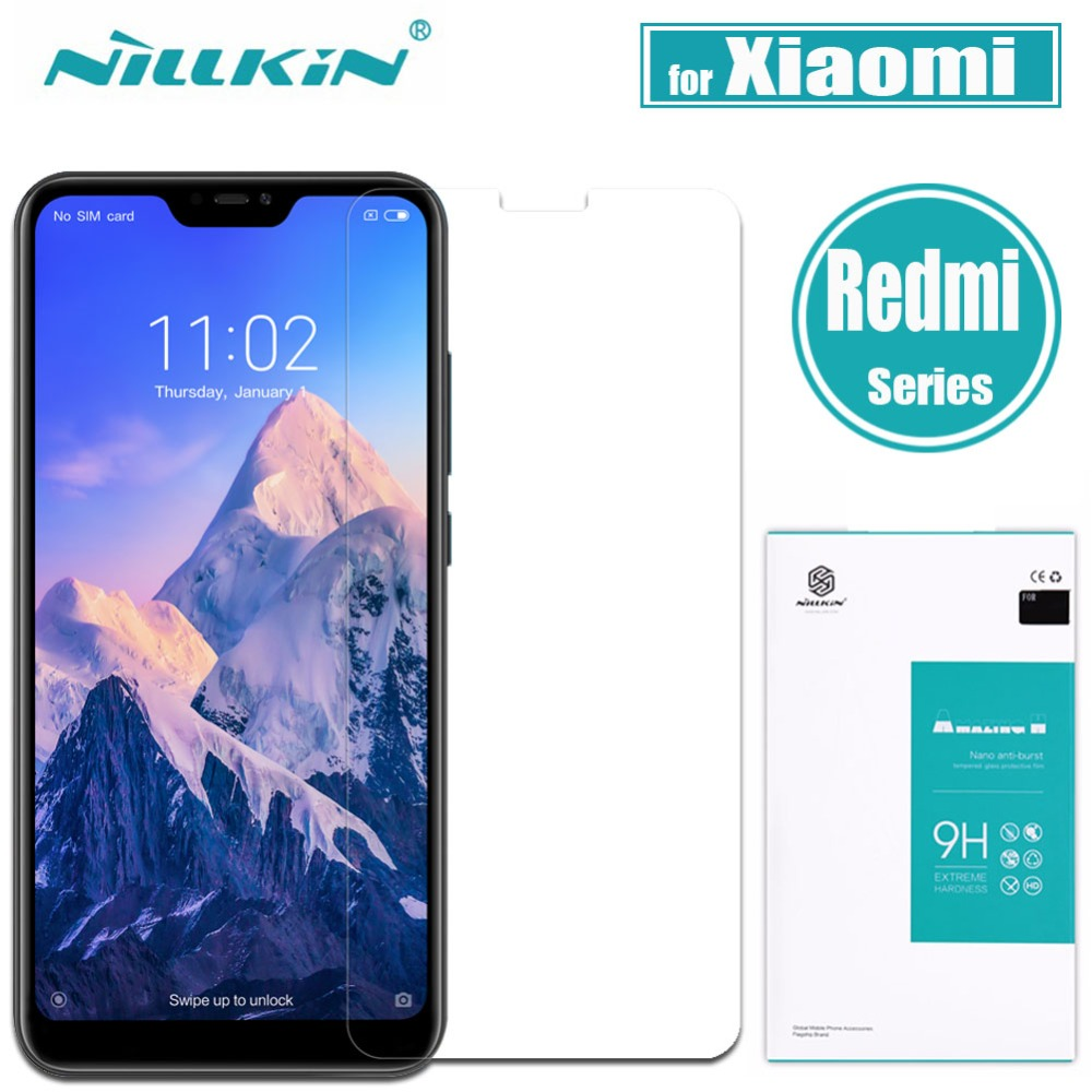 Xiaomi Redmi 6 Pro 6A 5 Plus 5A Gehärtetem Glas Screen Protector Nillkin Erstaunlich H Klar Glas für Redmi 5 plus 5A Nilkin Film