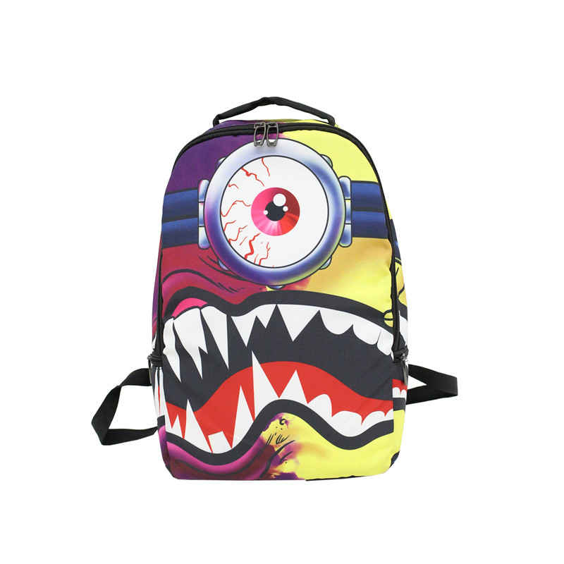 Trendy Hip Hop Backpack Unisex Fashion Casual Nylon Fabric 8 Style Personality Creative Mobile Shoulder Bag School Student Bags