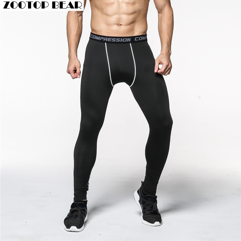 Compression Pants Man Trouser Mens Pants Elasitc Fitness Bodybuilding Pants Quick Dry 2019 Skinny Legging ZOOTOP BEAR