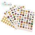 6 folhas/Bloco Popular Emoji Adesivo Para Notebook Sorriso Rosto Emoticon Clássico Brinquedo Engraçado Adesivo Laptop Popular Bonito Dieta