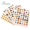 6 sheets/Pack Popular Emoji Sticker For Notebook Smile Face Emoticon Classic Toy Funny Laptop Sticker Popular Cute Diet