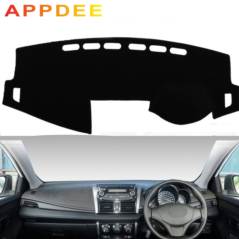 APPDEE For Toyota VIOS Yaris 2014 2015 2016 2017 2018 2019 Car Styling Covers Dashmat Dash Mat Sun Shade Dashboard Cover Capter
