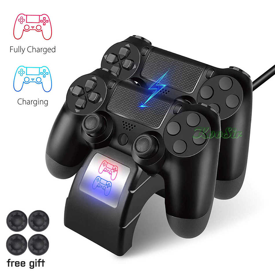 PS4 Pro Slim Dual Wireless Controller Charger & Play Station 4 Joystick Cepat Pengisian Dock Station untuk Sony PS 4 dualShock 4