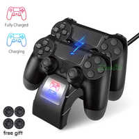 PS4 PRO SLIM Dual Wireless Controller Charger & Play Station 4 Joystick Fast Charging Dock Station for Sony PS 4 DualShock 4