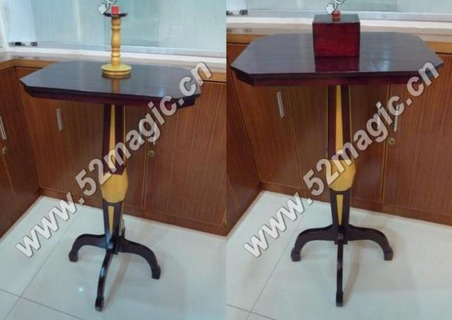 Luxury Mult-Function Floating Table (Anti Gravity Box + Metals Candlestick),stage magic,illusions,Accessories,mentalism,fun