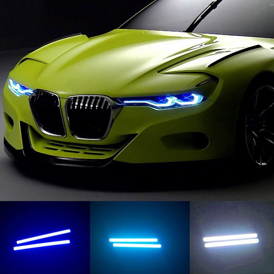 2 Pcs Car Auto External Daytime Running Lights LED Fog Lamp Universal Waterproof