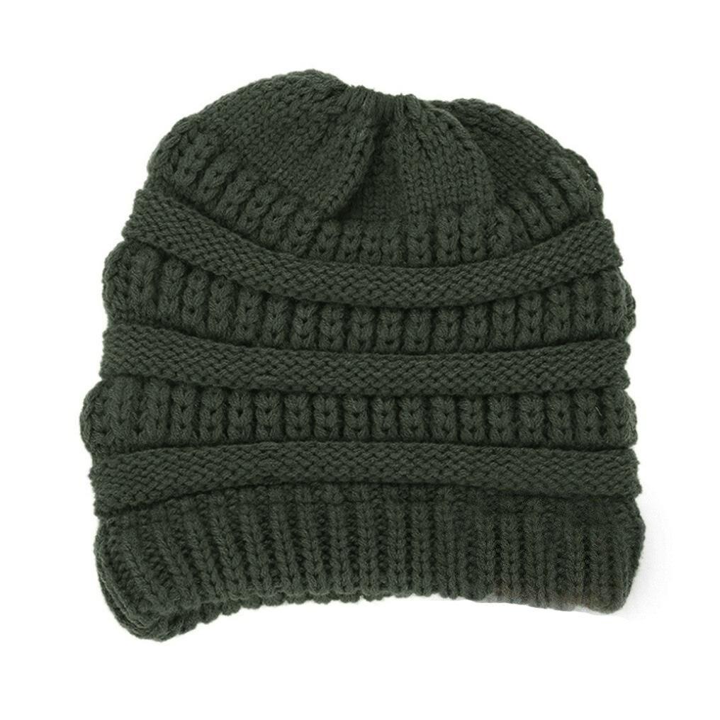 0bb3541ec8c Dropwow Feitong Knitting wool ball skullies beanies Casual ...