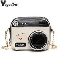 Mode Pu Lederen Schoudertas Riem Bag Style Case Camera Ontwerp Schattige Mini Chain Crossbody Tas Vrouwen Kleine Vintage Portemonnee