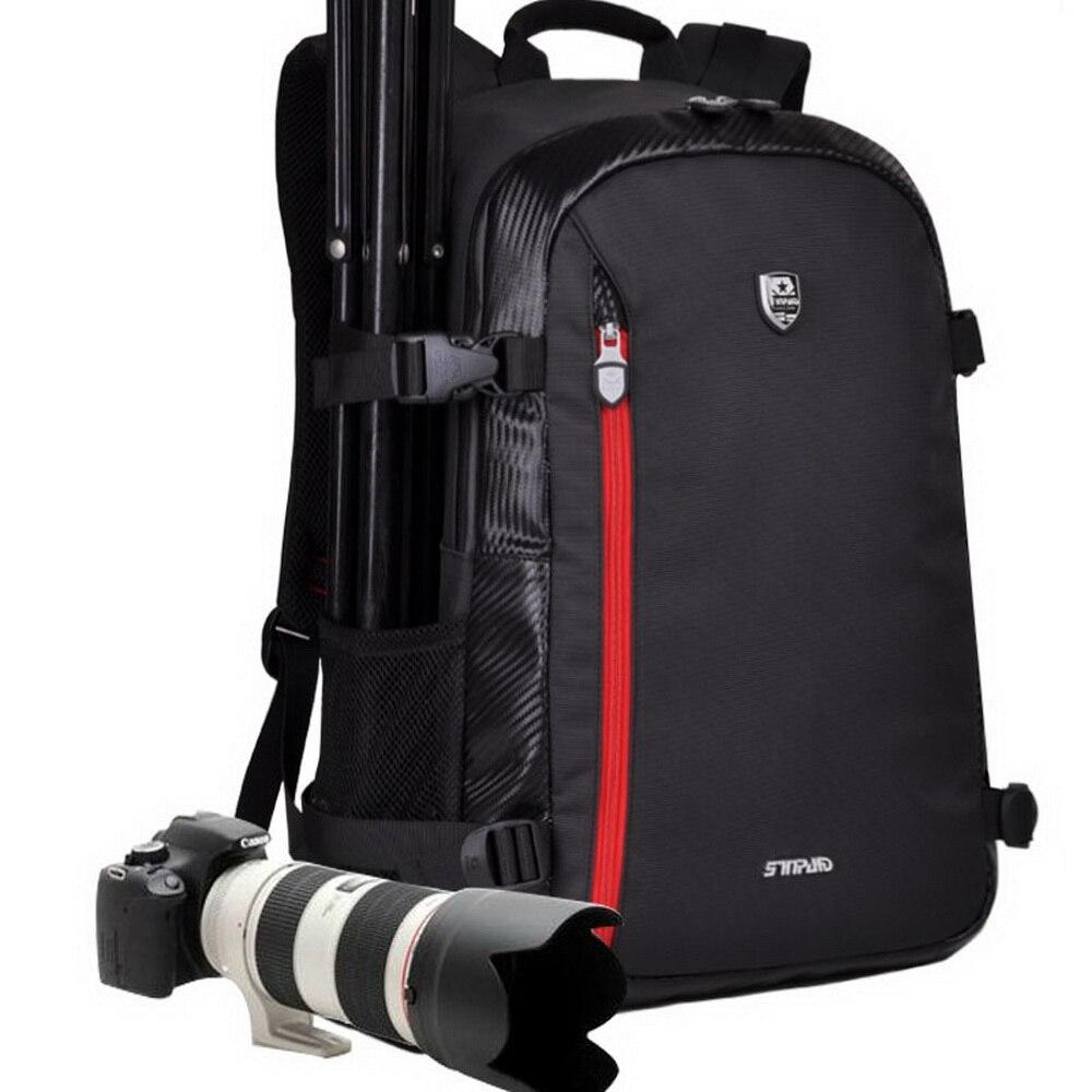 SINPAID Multifunctional Camera Backpack Waterproof Backpacker Bag Large Capacity for Nikon Canon DSLR Black Yellow & Army Green