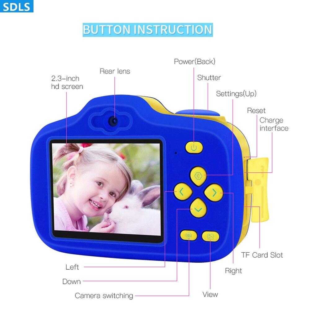Enfants jouets 12MP double lentille enfants caméra Fotografica Digita avec 2.3 pouces écran éducatif Jouet Enfant retardateur cadeau d'anniversaire - 3