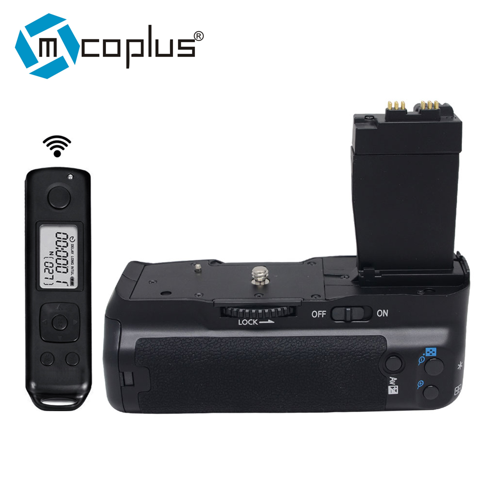 Mcoplus VD 550DR Vertical empuñadura de batería para Canon 550D 600D 650D 700D T5i T4i T3i T2i BG E8 con inalámbrica de 2,4 GHz control remoto-in empuñadura de batería from Productos electrónicos on AliExpress - 11.11_Double 11_Singles' Day 1