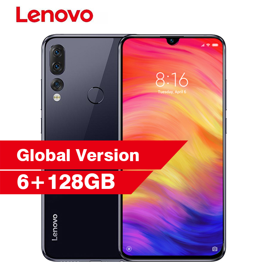 Lenovo Z5s L78071 Face ID Notch Screen 6.3'' Android P Smartphone 6GB 128GB Snapdragon 710 Octa Core Fingerprint Mobile Phone