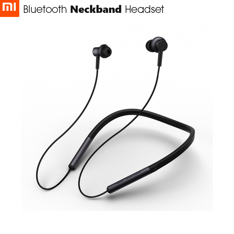 2018 Newest Xiaomi Bluetooth Neckband Headset apt X Support AAC Codec Hybrid Dual Driver Skin Care