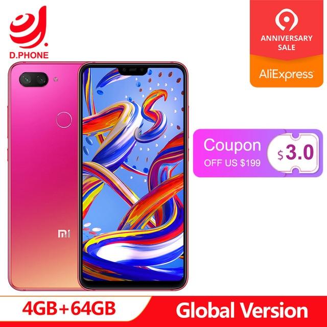 "Original Global Version Xiaomi Mi 8 Lite 4GB 64GB 6.26"" 19:9 Full Screen Mi8 Lite Snapdragon 660AIE Octa Core 24MP Front Camera"