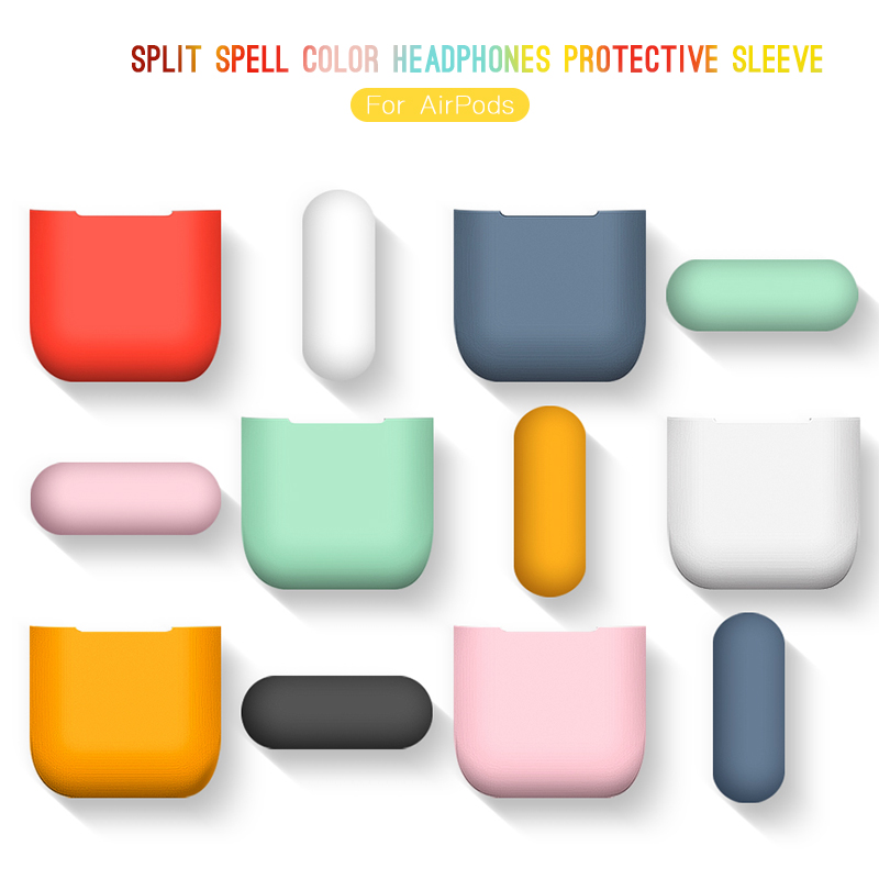 CASPTM Split Earphone Accessories For Apple Airpods 1 2 Ultra-thin Bluetooth Headset Silicone Cover Case For Airpods Protector