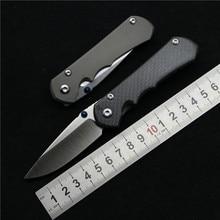 Dobrej jakości mały sebek 25 nóż składany uchwyt z włókna węglowego tytanu D2 blade narzędzie obóz polowanie survival nóż EDC narzędzia