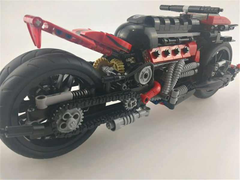 680Pcs Technic Series The Off-road Motorcycle Set Xingbao Building Blocks Bricks Educational Figures Toys Model Gift Boy Girl xingbao 01001 creative chinese style the chinese silk and satin store 2787pcs set educational building blocks bricks toys model