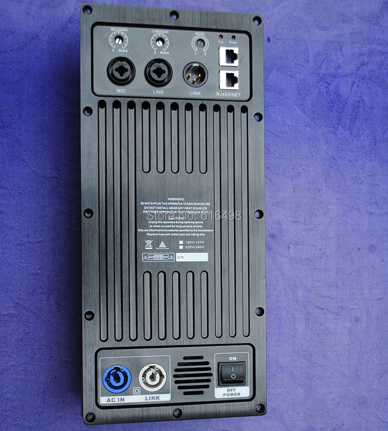 2 way full range Speaker Amplifier Board RMS 600W Class D Amplifier Plate Built in DSP module with Aluminum Radiator