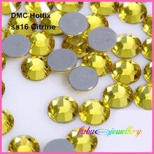 1440 шт./лот, ss16(3,8-4,0 мм) высокое качество DMC цитрин железо на стразы/горячая фиксация стразы