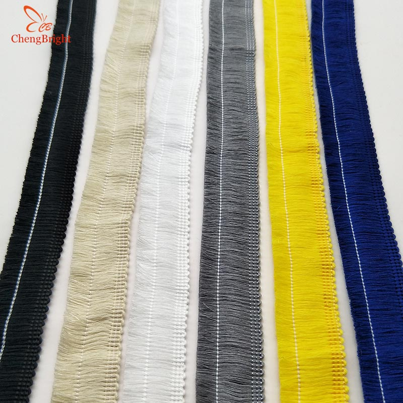 CHENGBRIGHT 5 Yard 2.5CM Width Lace Fringe Trim Tassel Fringe Trimming For Diy Latin Dress Stage Clothes Accessories Lace Ribbon