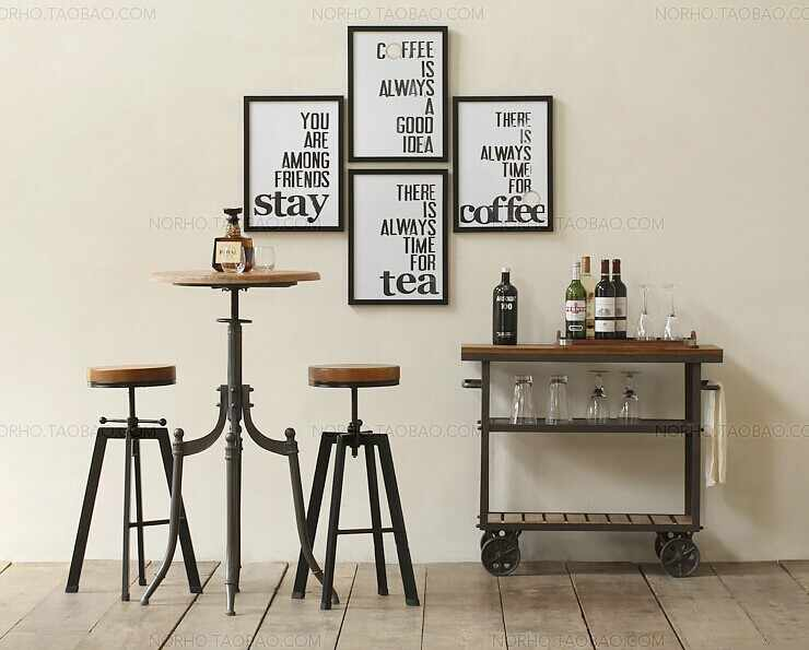 Стол Монтгомери, классический модный деревянный и железный стол, европейский стиль деревенский Твердый Деревянный/металлический обеденный столик, обеденный автомобиль