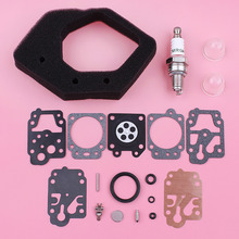 Carburetor Repair Rebuild Kit For Honda GX25 GX 25 Air Filter Primer Bulb Spark Plug Lawn Mower Replace Spare Part