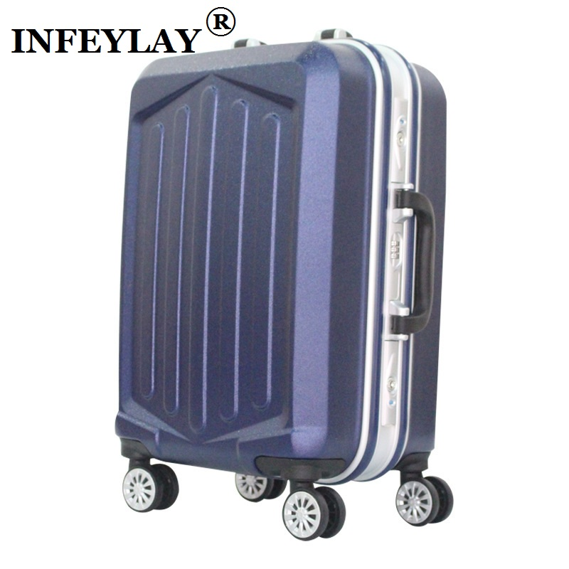 20/24 inches Aluminum alloy frame trolley case PC Travel luggage Frosted surface rolling suitcase business fashion Boarding box travel aluminum blue dji mavic pro storage bag case box suitcase for drone battery remote controller accessories