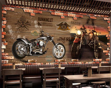 beibehang papel de parede Custom wallpaper 3d photo mural retro motorcycle nostalgic brick background decorative 3d wallpaper футболка wearcraft premium printio born to be unicorn