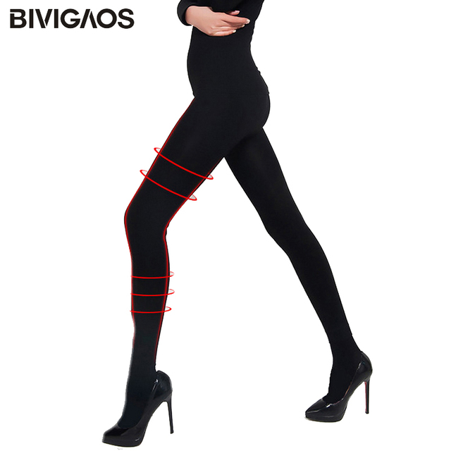 6d6177e1773c1 Women's Sexy Tights Let's Slim Stovepipe Pantyhose Black Skinny Pressure  Pantyhose Pantys Nylon Stockings Medias Collant