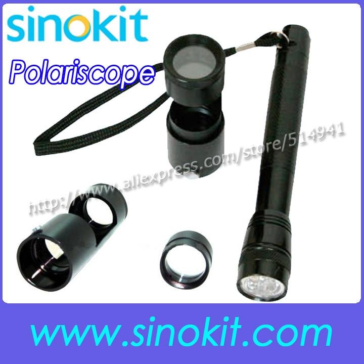 Free Shipping Handheld Polariscope LED flashlight Jewellery Gems Gemstone tools - GS-HH01 [randomtext category=