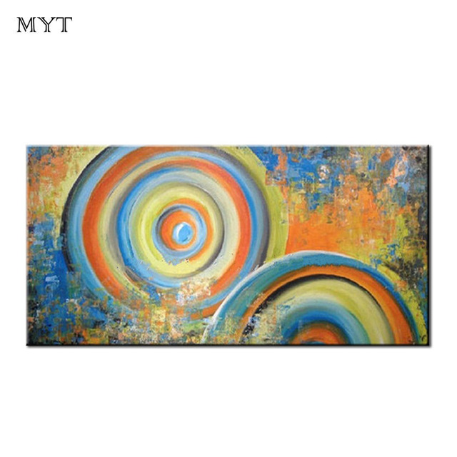 Us 19 52 39 Off Myt 100 Handpainted Abstract Rainbow Oil Painting Canvas Handmade Wall Painting Modern Abstract Kids Room Wall Decoration In
