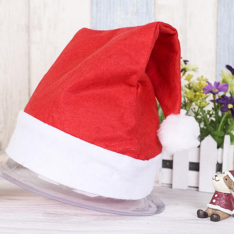 Christmas Hat Gift Adult Children Man Women's Hat Cap New Year Christmas Party Red Santa Claus Costume Cap Cosplay Decor Top hat