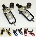 Sale CNC Aluminum Left & Right Chain Adjusters with Spool Tensioners Catena For Kawasaki Ninja ZX-10R ZX10R 2008 2009 2010