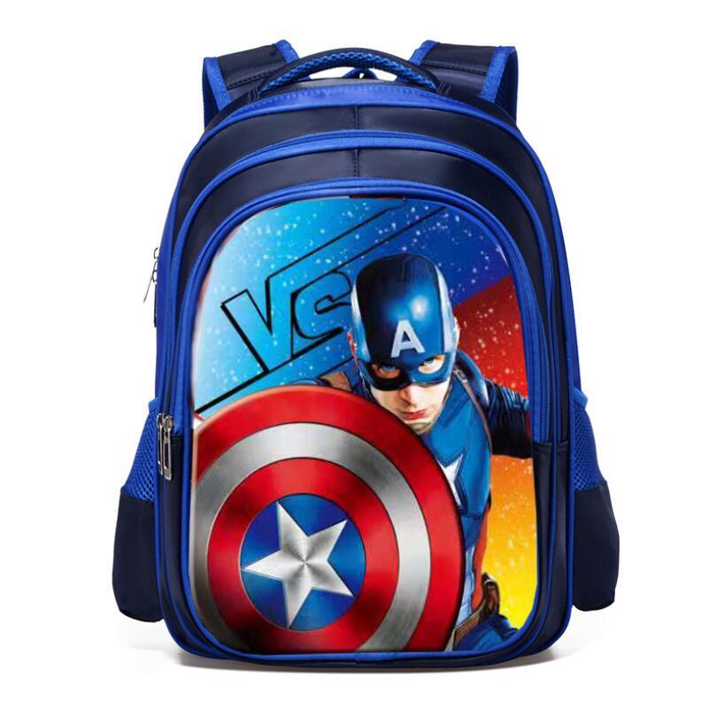 New Spiderman Captain America Boy Girl Children Kindergarten School Bag Primary School Princess Schoolbags Kids Student Backpack