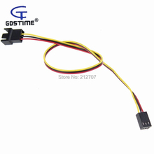 10pcs X 3Pin Female to male Extension Wire Adapter Power Cable for PC Case Fan CPU 30cm high quality 10pcs motherboard internal 3pin female to 3 x 3pin pwm cooling fan splitter power sleeved cable 60cm wire 22awg