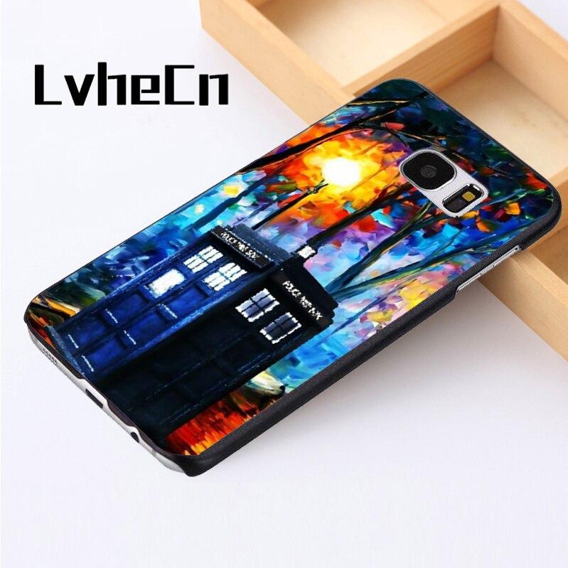 LvheCn phone case cover For Samsung Galaxy S3 S4 S5 mini S6 S7 S8 edge plus Note2 3 4 5 7 8 Tardis Doctor Who