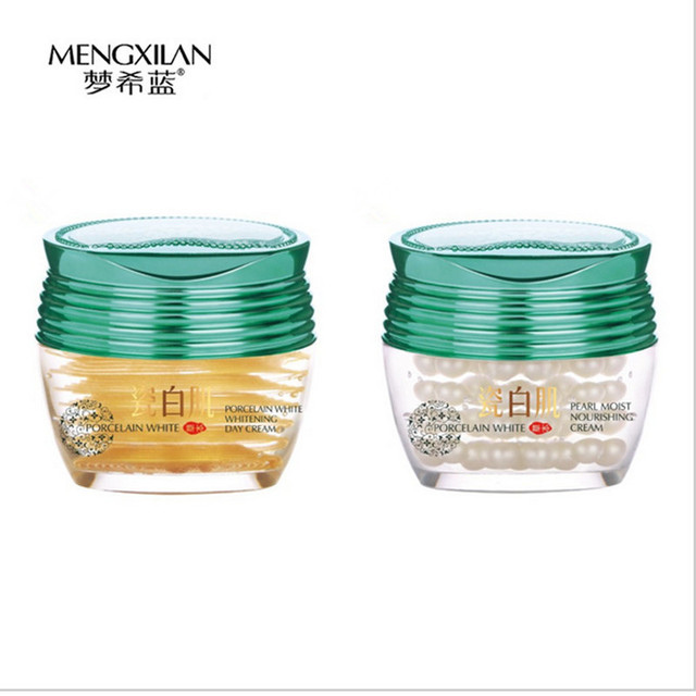 24 K gold day cream+pearl night cream for face care treatment
